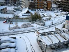 うちから見た雪景色