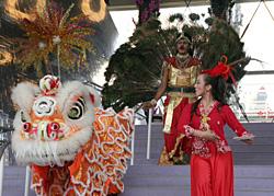 シンガポール館のショー